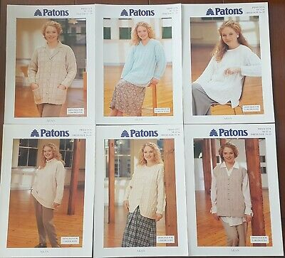 6 X Aran Knitting Patterns Designed For Larger Sizes 38-52  Dress Size 16 - 30 • 8.95£