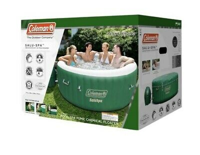 $650 • Buy Coleman SaluSpa Inflatable Hot Tub Spa 2020 Green & White 77 X 28 IN-HAND