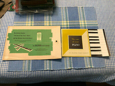 $14.99 • Buy 1950s Baldwin Acrosonic The Care Of Your Piano Booklet Manual W/Warranty Stub NR