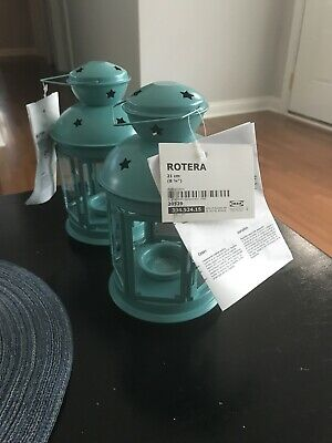 $10 • Buy IKEA Rotera Tealight Candle Lantern Green Hanging Candle Decor Stars NEW W/ Tag