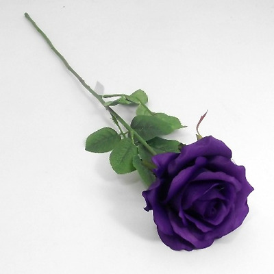£5.95 • Buy Top Quality Artificial / Silk Flowers  3 Stems Cadbury Purple Elegance Roses