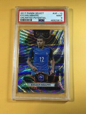 $ CDN1338.20 • Buy Kylian Mbappe 2017-18 Panini Select #up-10 Silver Prizm Refractor Rookie Psa 9
