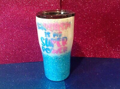 $29.99 • Buy Insulated Stainless Glittered Tumbler 20 Oz W/LID Sarcasm Super Power