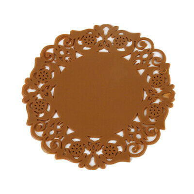 Lace Flower Hollow Doilies Silicone Coaster Coffee Table Cup Mats Pad Placemat • 3.58£