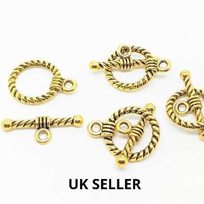 Quality Antique Gold Toggle Clasps Jewellery Making Finding , DIY Material  • 1.79£