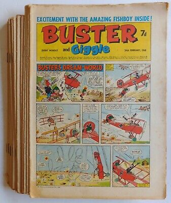 17 X BUSTER Comics - 1968 To 1970 • 1.50£