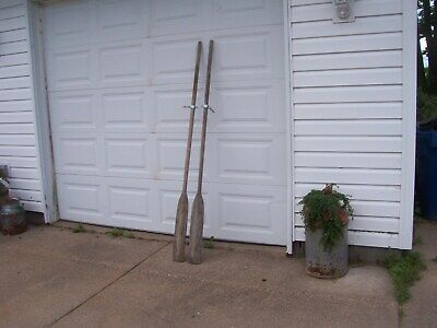 Vintage Wooden Boat Oars Great Wall Hanger 76 Inches • 59.24£