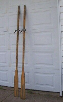 Intage Wooden Boat Oars Great Wall Hanger 84 Inches • 59.24£