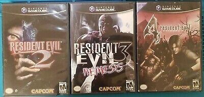 $60 • Buy Nintendo Gamecube Resident Evil 2, 3 And 4 Game Lot, Tested!
