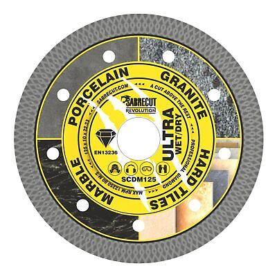 AU17.96 • Buy SabreCut 125mm Thin Turbo Diamond Grinder Cutting Blade Disc For Tiles 5 Inch