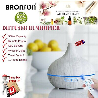 AU24.90 • Buy 550ml PORTABLE ESSENTIAL OIL AROMATHERAPY DIFFUSER HUMIDIFIER REMOTE CONTROL