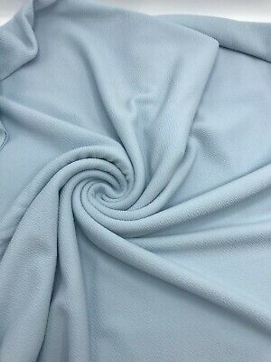 2 Metre Length Baby Blue Liverpool Stretch Fabric Jaquard Clothing  • 5.76£