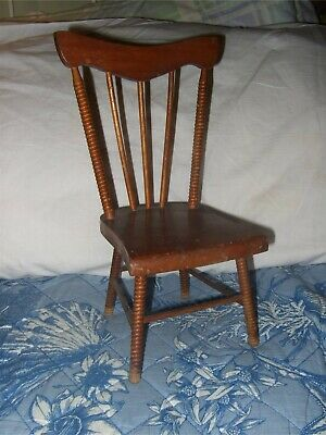 $125 • Buy Antique Wooden, Lathe Turned Spindles Doll Chair