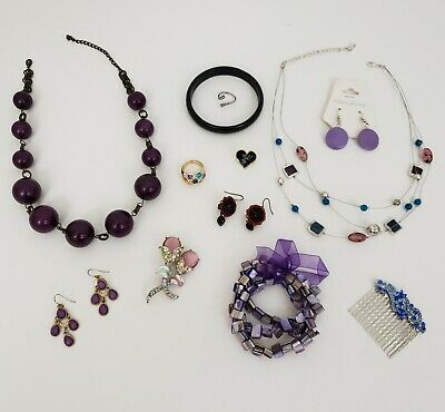 $ CDN27.50 • Buy Estate Vintage Costume Jewelry Mixed Lot Necklaces Rings Brooches Pins Earrings