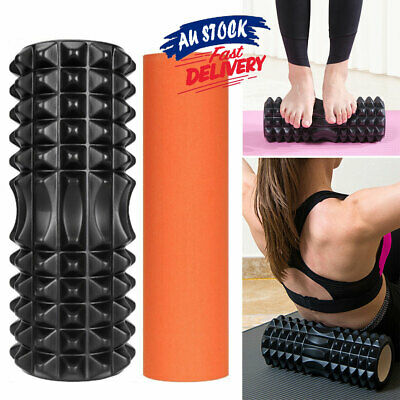 AU23.95 • Buy 2 IN 1 Foam Roller Gym EVA Exercise Physio Yoga Training PVC Back Massage ACB#