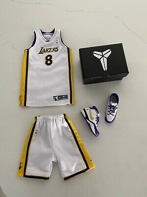 "$120 • Buy NBA Lakers 1/6 Kobe Bryant ""81 Points"" Sunday  White #8 Custom Enterbay  Set"