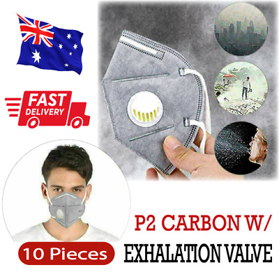 AU20.99 • Buy 10Pcs P2/KN95 Respirator Mask Exhalation Valve Filter PM2.5 Anti Pollution Dust