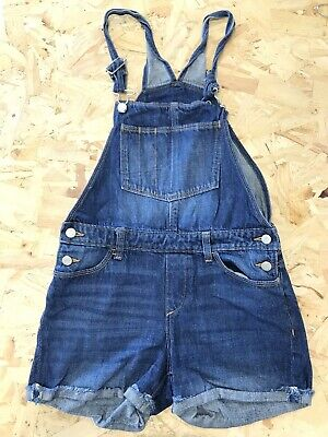 £9.99 • Buy Girls Short Dungarees Age 13 To 14 Years Old Navy Blue Denim E616