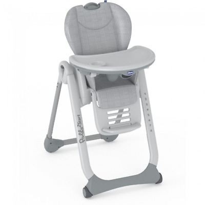 Chicco Polly 2 Start Highchair – Happy Silver - Warehouse Clearance • 109.99£