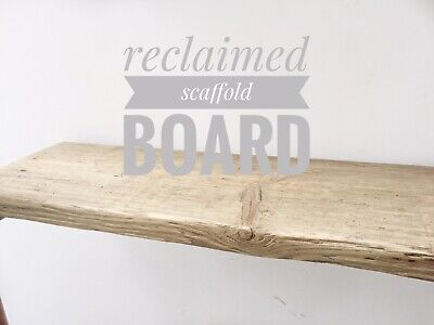 900mm Large Reclaimed Scaffold Boards Shelves Rustic Sanded Down Scaffold Boards • 19.99£