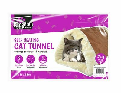 £4.99 • Buy Self Heating Cat Tunnel & Mat Cushion Puppy 2 In 1