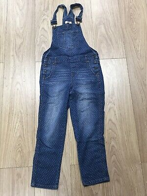 Girls Dotted Dungarees Age 12-13 Years L.e.i Blue Denim B13 • 8.99£