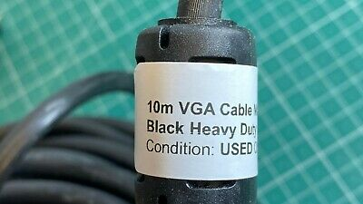 10m VGA Cable Male-Male Black Heavy Duty • 9.99£
