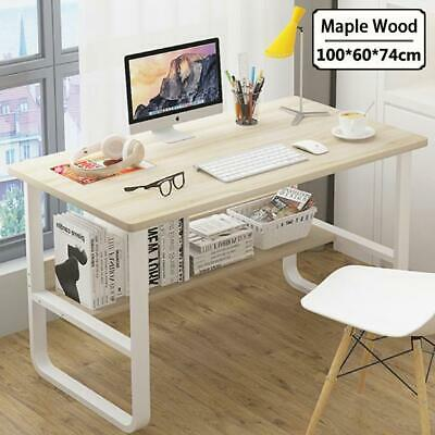 AU129 • Buy Home Office Table Thick Wood & Metal Home Study Computer Desktop Desk White