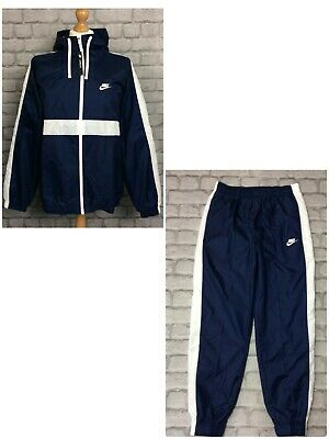 Nike Mens Navy Blue Hoxton Woven Hooded Poly Full Zip Track Top Rrp £70 Pants • 29.50£