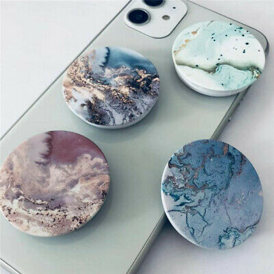 AU6.99 • Buy Universal Marble Pop Up Socket Mount Grip Stand Mobile Phone Ring Holder IPhone