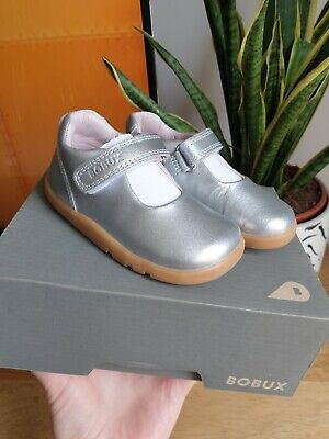 Bobux I Walk Girls Inf 3.5 EU 20 Leather Silver Mary Jane First Shoes  • 21.99£