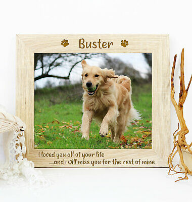 Personalised Quote Pet Dog Memorial Wooden Picture Photo Frame Keepsake Gift • 9.95£