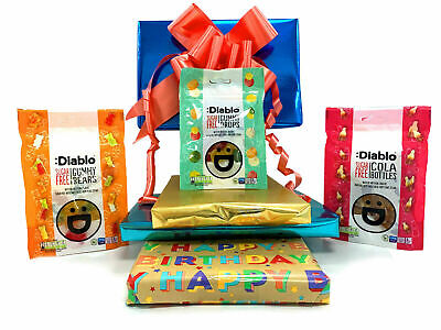 Diablo Sugar Free Diabetic Sweets Gummy Sweet Chocolate 3 X 75g Gift Hamper Box • 6.99£