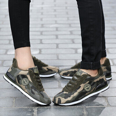 £19.48 • Buy Men Women Camouflage Sport Casual Running Plus Comfy Trainers Jogging Gym Shoes