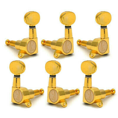 $ CDN17.42 • Buy Electric Guitar Tuning Pegs Keys Tuners Machine Heads For Strat Tele 3x3 Gold