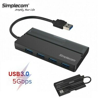 AU19.95 • Buy Simplecom 4 Port USB 3.0 HUB 5Gbps Fast Speed External Cable For PC Mac Laptop