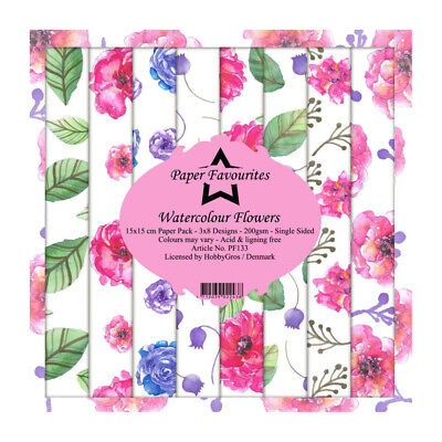 £6.50 • Buy Dixi Craft Watercolour Flowers 6 X 6 Paper Pad Mothers Day Birthday Card Making
