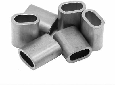 Wire Rope Aluminium Ferrules 1mm 2mm 3mm 4mm 5mm 6mm 8mm Galvanised Wire Rope • 0.99£