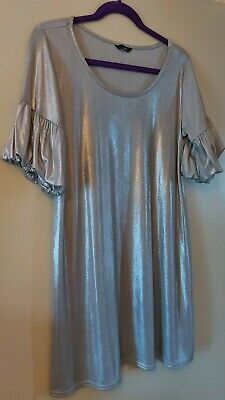 £6.50 • Buy Silver Shiny Top. Size 14. Foil Effect.