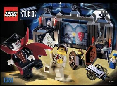 Rare Lego STUDIOS, Set Number 1381, Pre-owned, Vampires Crypt, 100% Complete. • 129.99£