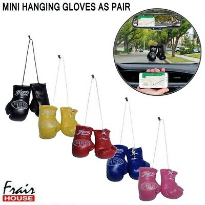 Mini Boxing Gloves Hanging & KeyRing Glove Novelty Gift Van Car Mirror Accessory • 3.99£