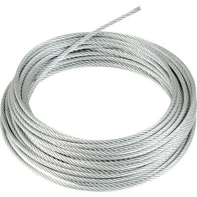 Stainless Steel Wire Rope Cable 1mm 2mm 3mm 4mm 5mm 6mm FREE DELIVERY  UK SELLER • 1.20£
