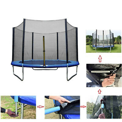 £83.67 • Buy Kids Trampolines Safety Mesh Net Placement Netting 6ft/8ft/10ft-6pole 12/13/14ft