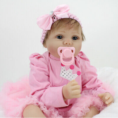 22  Reborn Dolls Soft Silicone Realistic Real Life Girl Baby Toddler Toy Gift UK • 38.75£