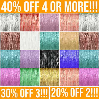 £3.19 • Buy Foil Backdrop Tinsel Fringe Curtain. Party Decorations, Baby Shower Photo Props