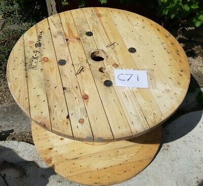 Large Wooden Cable Drum Reel (Wood Spool) Free Local Delivery [C71] • 65£