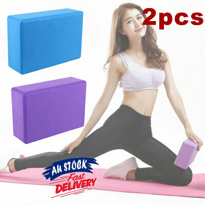 AU14.99 • Buy 2Pcs Home Exercise Block Brick Fitness Foaming Practice Gym Sport Tool Yoga