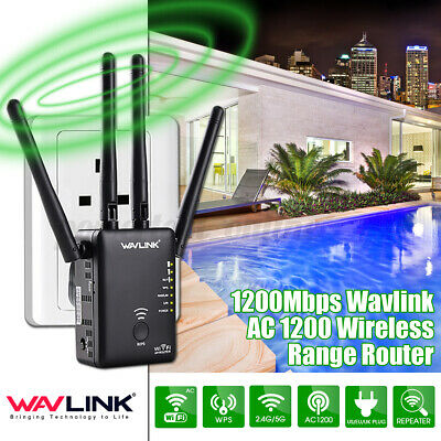 New AC1200 WIFI Repeate Wavlink Dual 1200Mbps Range External Antenna Wireless  • 33.99£
