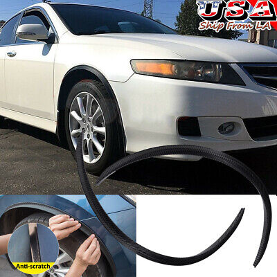 $31.99 • Buy 4pcs Carbon Fiber Wheel Eyebrow Arches Fender Flares Cover Trim For Acura TL TSX