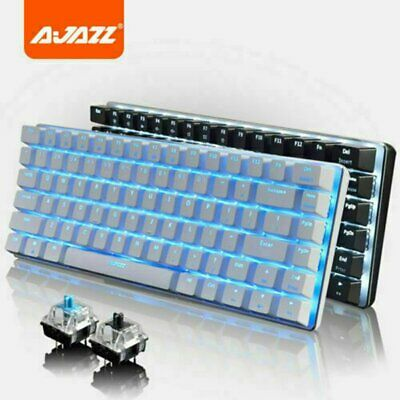 AU58.88 • Buy Ajazz AK33 Mechanical Gaming Keyboard Usb Wired Blue Switch For PC Laptop Office